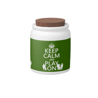 Keep Calm and Play On (stringed instruments) Candy Dish