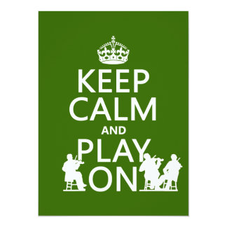 Keep Calm and Play On (stringed instruments) Card