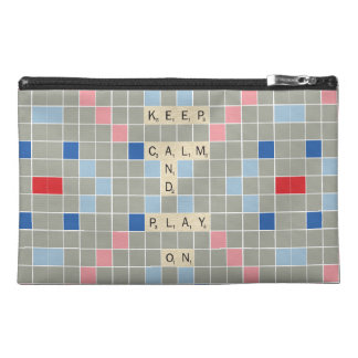 Keep Calm And Play On Travel Accessory Bag