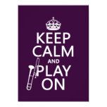Keep Calm and Play On (Trombone)(any color) Card