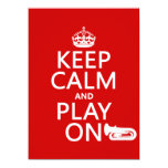 Keep Calm and Play On (tuba)(any background color) Invitations