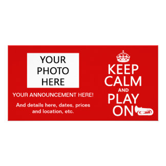 Keep Calm and Play On (tuba)(any background color) Photo Card