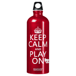 Keep Calm and Play On (tuba)(any background color) Water Bottle