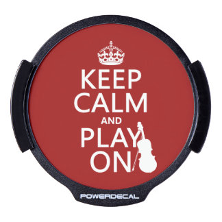 Keep Calm and Play On (violin)(any color) LED Car Window Decal
