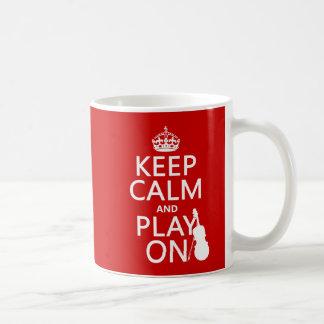 Keep Calm and Play On (violin)(any color) Coffee Mug
