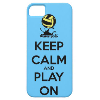 """""""Keep Calm and Play On"""" Water Polo iPhone Cover iPhone 5 Covers"""