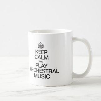 KEEP CALM AND PLAY ORCHESTRAL MUSIC COFFEE MUG