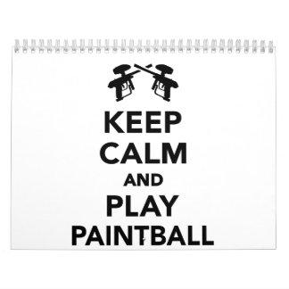 Keep calm and Play Paintball Calendar