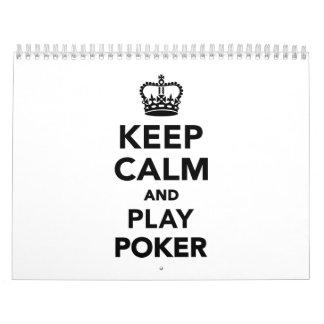 Keep calm and play Poker Calendar