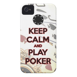 keep calm and play poker iPhone 4 cases
