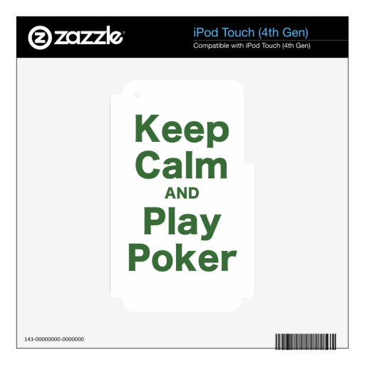 Keep Calm and Play Poker iPod Touch 4G Decal