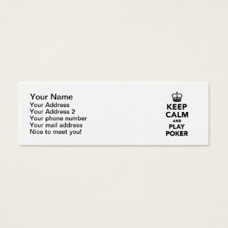 Keep calm and play Poker Mini Business Card