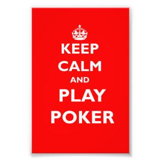 keep calm and play poker symbol british casino photo print