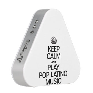 KEEP CALM AND PLAY POP LATINO MUSIC.ai Bluetooth Speaker