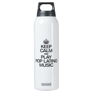 KEEP CALM AND PLAY POP LATINO MUSIC SIGG THERMO 0.5L INSULATED BOTTLE
