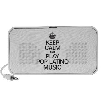 KEEP CALM AND PLAY POP LATINO MUSIC iPod SPEAKERS