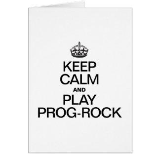 KEEP CALM AND PLAY PROG ROCK GREETING CARD