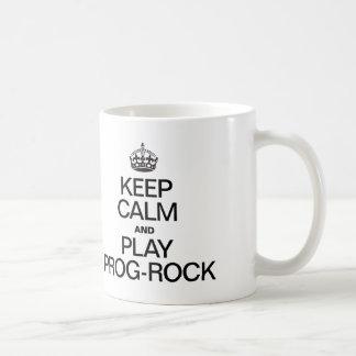 KEEP CALM AND PLAY PROG ROCK COFFEE MUG