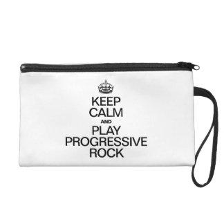 KEEP CALM AND PLAY PROGRESSIVE ROCK WRISTLET CLUTCH