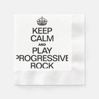 KEEP CALM AND PLAY PROGRESSIVE ROCK COINED COCKTAIL NAPKIN