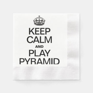 KEEP CALM AND PLAY PYRAMID PAPER NAPKINS