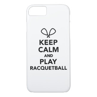 Keep calm and play Racquetball iPhone 7 Case