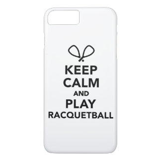 Keep calm and play Racquetball iPhone 7 Plus Case