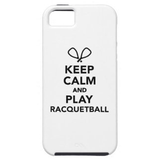 Keep calm and play Racquetball iPhone SE/5/5s Case