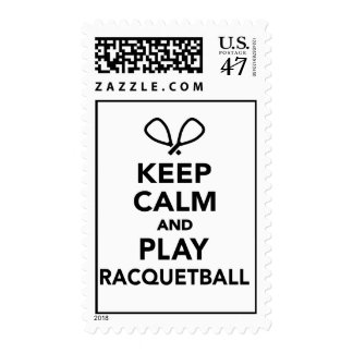 Keep calm and play Racquetball Postage Stamp