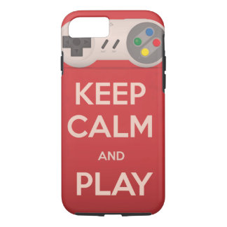 Keep Calm and Play retro game iPhone 8/7 Case