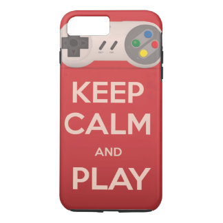 Keep Calm and Play retro game iPhone 8 Plus/7 Plus Case