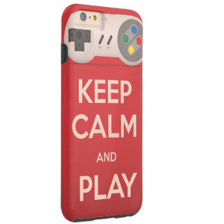 Keep Calm and Play retro game Tough iPhone 6 Plus Case