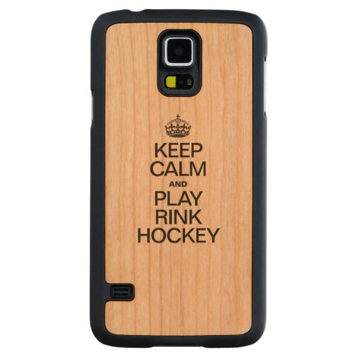 KEEP CALM AND PLAY RINK HOCKEY CARVED® CHERRY GALAXY S5 CASE