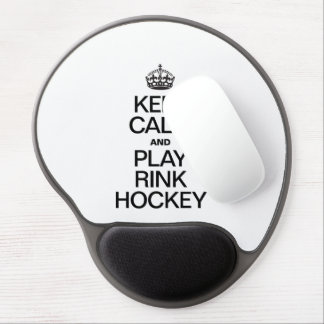 KEEP CALM AND PLAY RINK HOCKEY GEL MOUSE MATS