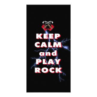 Keep calm and play rock card