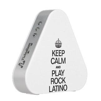 KEEP CALM AND PLAY ROCK LATINO BLUETOOTH SPEAKER