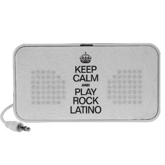 KEEP CALM AND PLAY ROCK LATINO LAPTOP SPEAKER