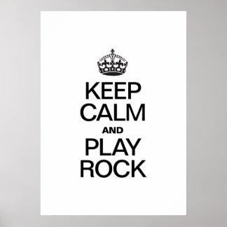 KEEP CALM AND PLAY ROCK PRINT