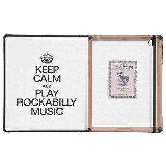 KEEP CALM AND PLAY ROCKABILLY MUSIC iPad COVER