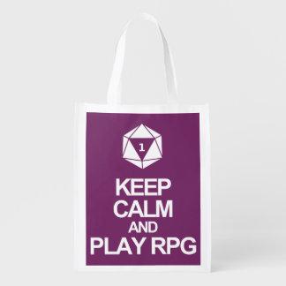 Keep Calm and Play RPG Grocery Bag