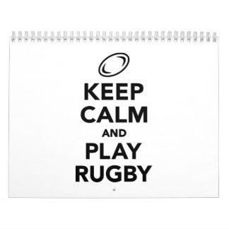 Keep calm and play Rugby Calendar