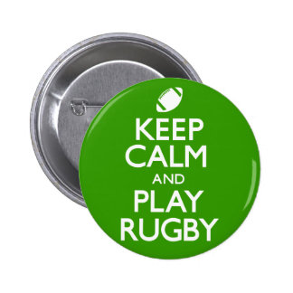 Keep Calm and Play Rugby (Carry On) Pinback Button