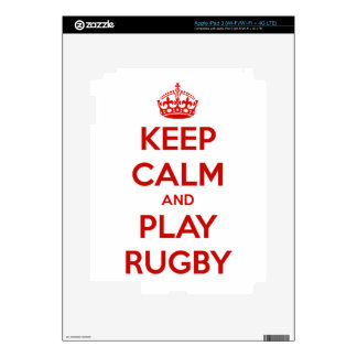 Keep Calm And Play Rugby iPad 3 Decal