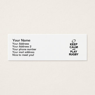 Keep calm and play Rugby Mini Business Card