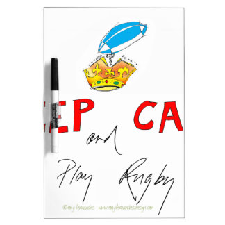 keep calm and play rugby, tony fernandes Dry-Erase board