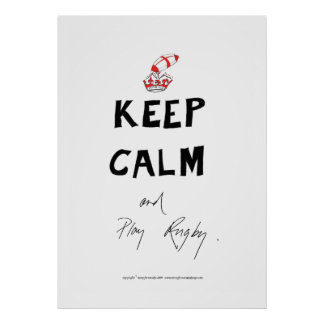 keep calm and play rugby, tony fernandes poster