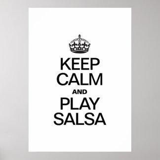 KEEP CALM AND PLAY SALSA PRINT