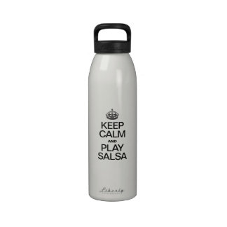 KEEP CALM AND PLAY SALSA REUSABLE WATER BOTTLE