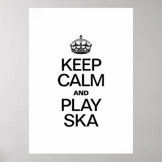 KEEP CALM AND PLAY SKA PRINT