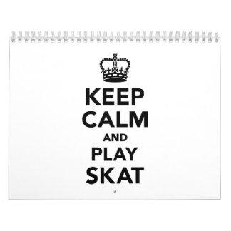 Keep calm and play Skat Calendar